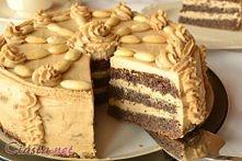 Tort makowo - kawowy z dżem...