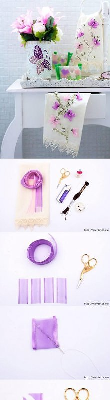 diy, butterfly, hand ribbon embroidery, tutorial