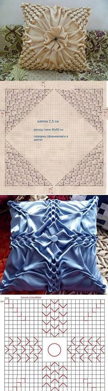 diy, pillow, pattern, puffe...