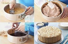 Tort bez pieczenia spód to krakersy grahamki,ale herbatniki też się nadają,kruszy się je i miesza z kostką stopionego masła i cukrem.Ubija się dobrze i schładza,polewa się czeko...