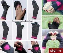 rękawiczki ze skarpetek