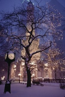 Christmas in Chicago.