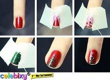 choinkowy manicure..jak już mamy szleństwo świąteczne to czemu nie mamy zasza...