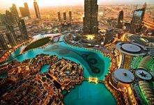 Dubaj,fontanna jedna z najwiekszych na swiecie