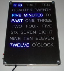 Word Clock blue LED version
