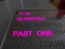 Word Clock Pink by Ledy Design
