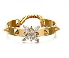 złota z kryształami i ćwiekami w stylu glamour