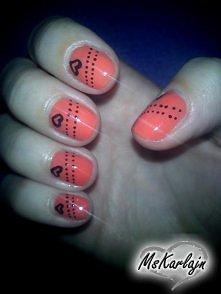 Pomarańczyk + czarne serdus...