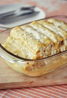 Cannelloni z kurczakiem i pieczarkami  Przepis na porcję dla 4 osób Kaloryczn...