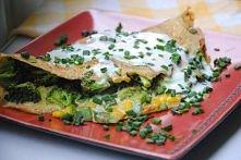 omlet z brokułami, papryką i kukurydzą   Składniki: -2 jajka -50g brokuł -50g...