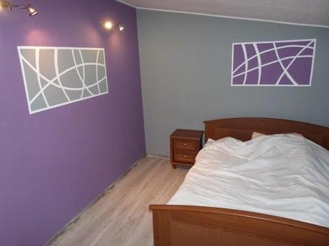Ciekawe Malowanie Dekoracji Na ściany W Sypialni