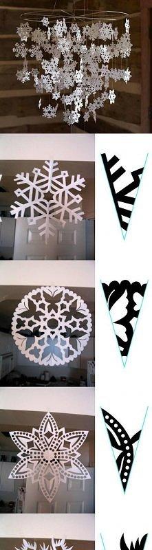 diy, snowflake, paper pattern, tutorial