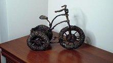 wiklina papierowa - rower