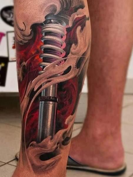 Tatuaże Amortyzatory Tatuaż Na łydce Na Tatuaże Zszywkapl