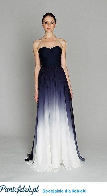 Śliczna suknia ombre :)