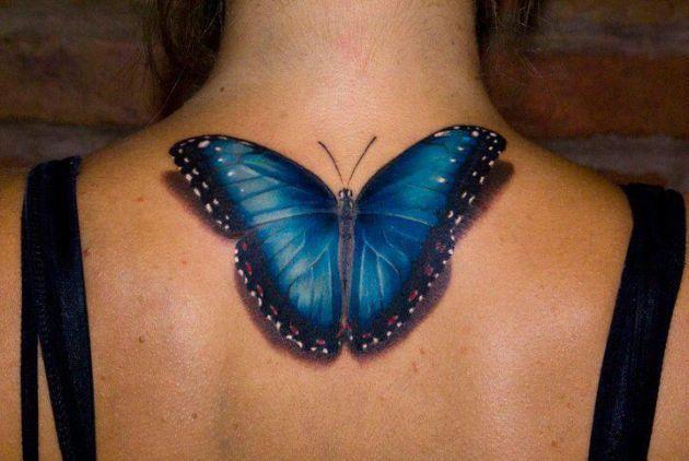 Tatuaz 3d Motyl Na Wzory Tatuazy Zszywka Pl
