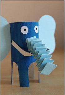 słoń z papieru