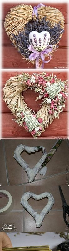 diy, dry plants, wreath, tutorial