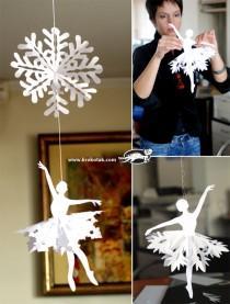 śnieżynka- baletnica