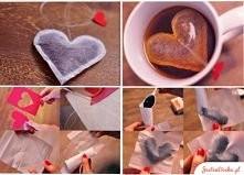 diy herbata w serduszkowych torebkach