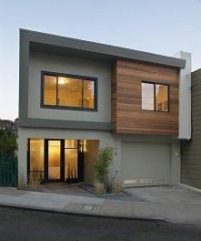 Mały, współczesny dom.