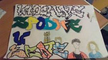 Grafitti mojego przyjaciela .  On bardzo chce wygrać konkurs dziewczyny , któ...