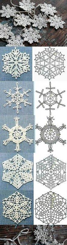 diy, schemes, crochet snowflakes, tutorial