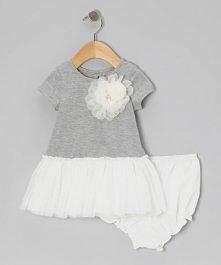 Cóż za fantastyczny pomysł na tunikę dla małej elegantki :D