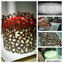dekoracja z czekolady