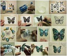 Piękne motyle zrobione z plastikowych butelek