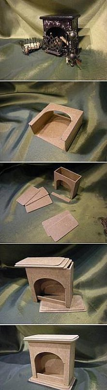 kominek do domku dla lalek
