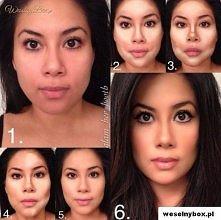 jak się malować by wyszczuplić twarz ;)