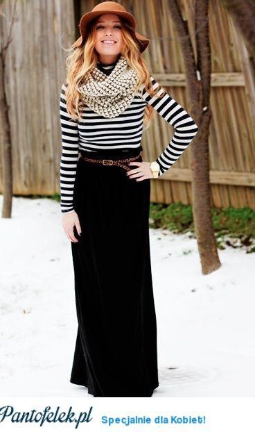 Spódnica maxi zimą, tak czy nie? ;)