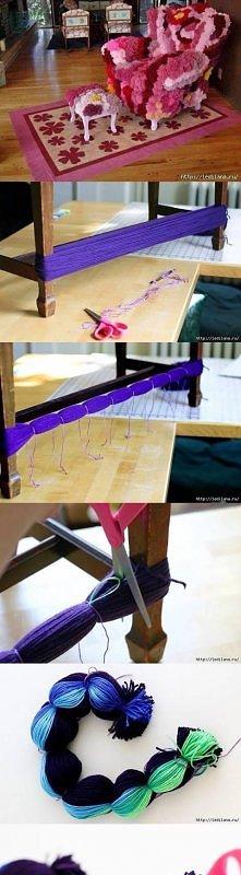 diy, pom pom, tutorial, handmade