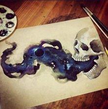 Chyba lubię obrazy czaszek... Chyba nawet bardzo. ^^  ~ Mimoza Nimani