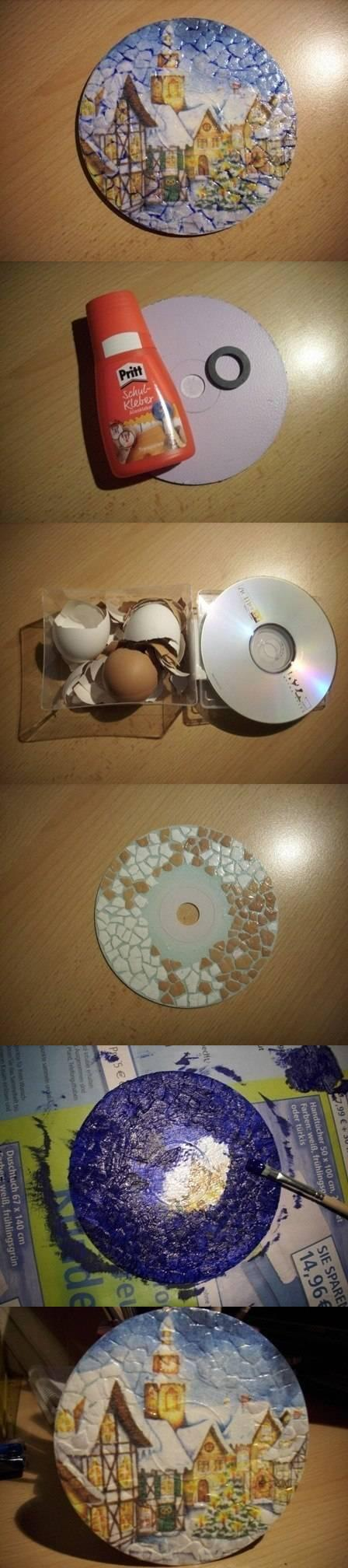 diy, eggshell decoupage, tutorial, handmade