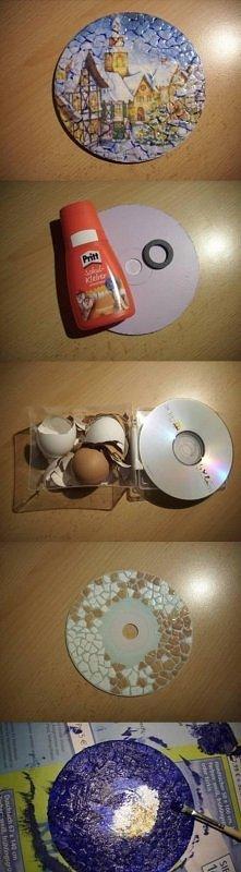 diy, eggshell decoupage, tu...