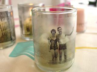 szklane świeczki ze zdjęciem