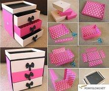 szuflady z pudełek...