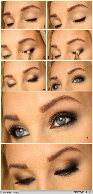 a taki sliczny podkreslajacy oczy makijaż :)