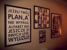 Jedna ze ścian w moim pokoju :3  Ramka z tekstem - DIY