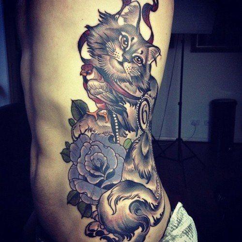 Tatuaż Z Kotem Na Wzory Tatuaży Zszywkapl