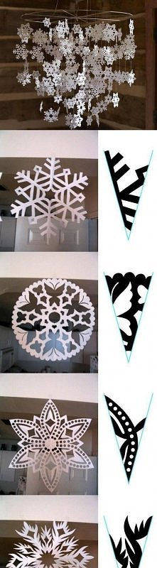 diy, winter mobile, paper mobile, tutorial