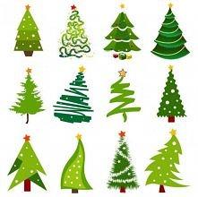 Choinki na wiele sposobów, które pomogą przy ozdabianiu świątecznych kartek :)