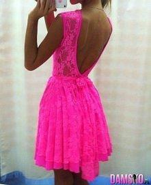 świetna neonowa sukienka