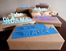 Jeden z pomysłów na pakowanie prezentów ;)