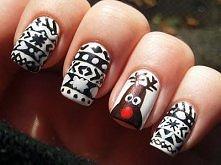 świąteczne paznokcie <3
