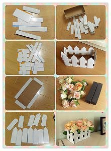diy, fence, flower ornament, tutorial