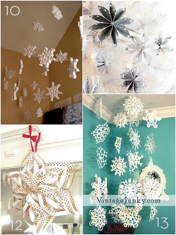 15 Pomysłów Na Dekoracje świąteczne Z Papieru Na święta