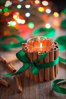 Cynamonowy świecznik - aby w domu pachniało świętami